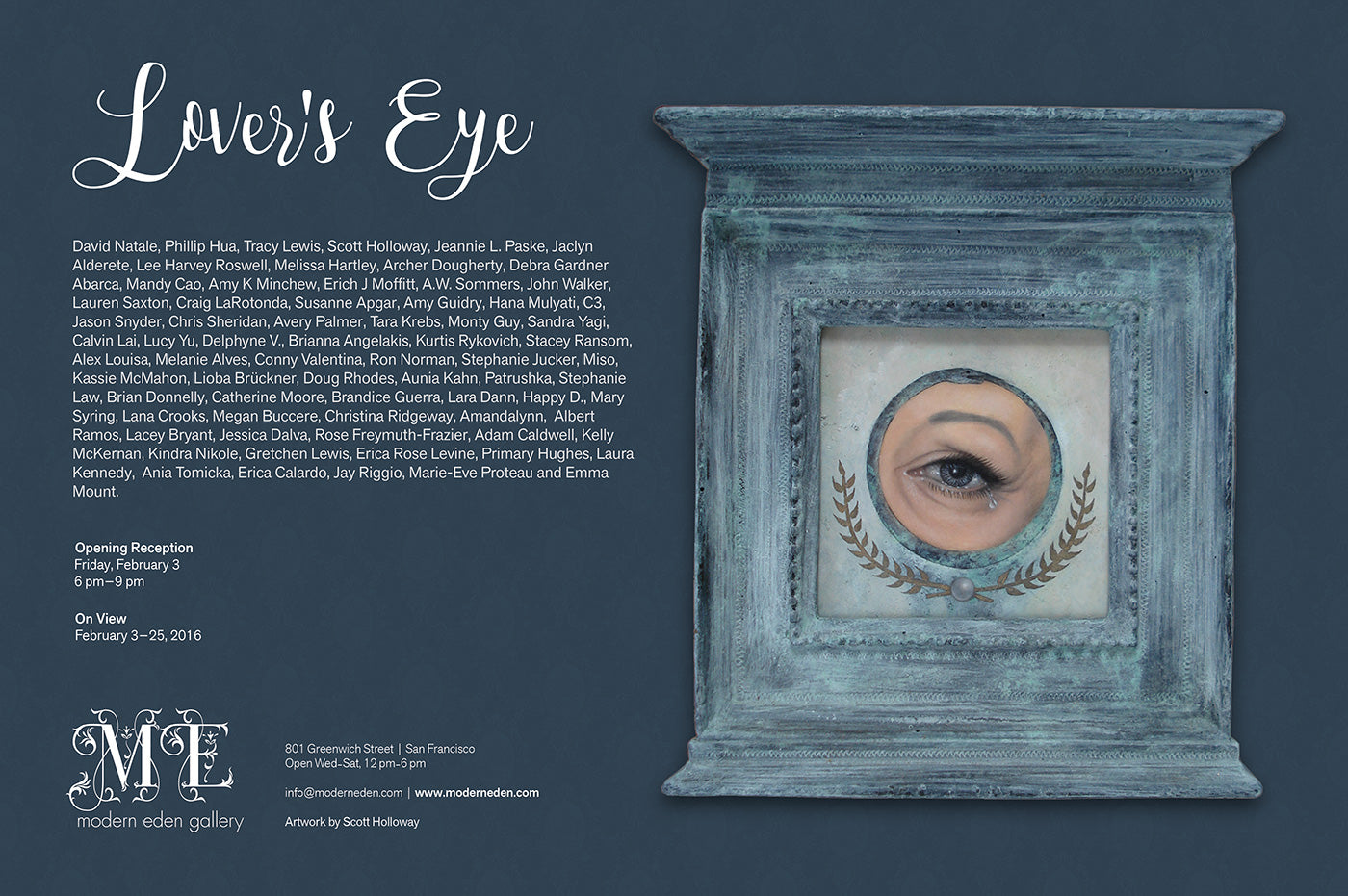 Lover's Eye Group Exhibition at Modern Eden Gallery