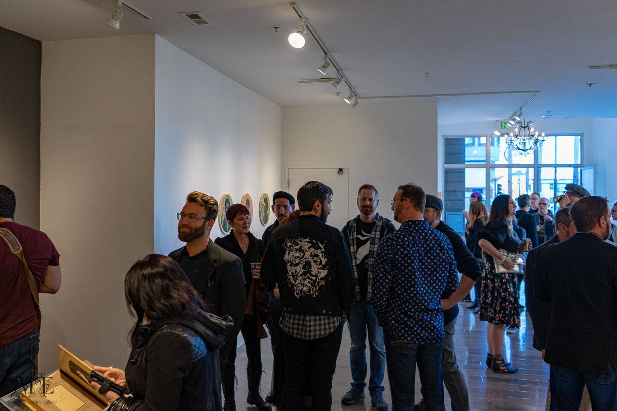 Opening reception at Modern Eden Gallery