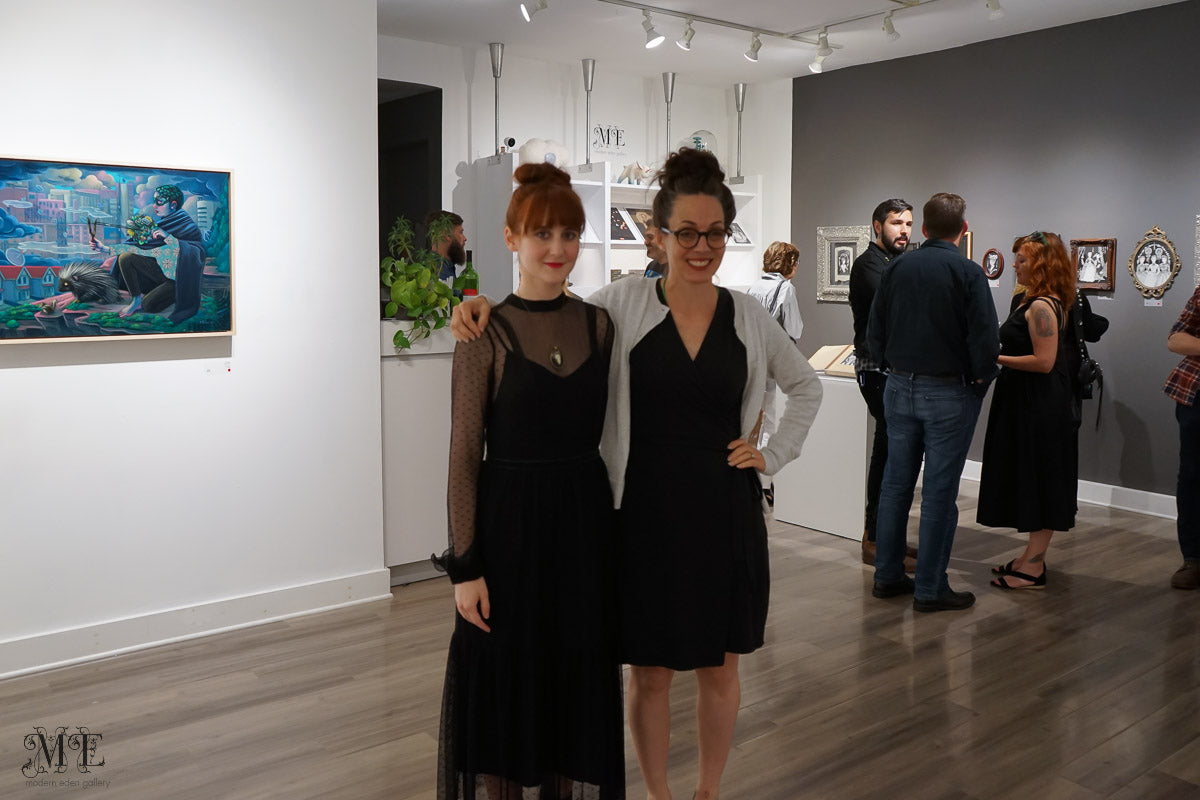 Mary Syring and Lori Nelson at Modern Eden Gallery, July 14, 2019