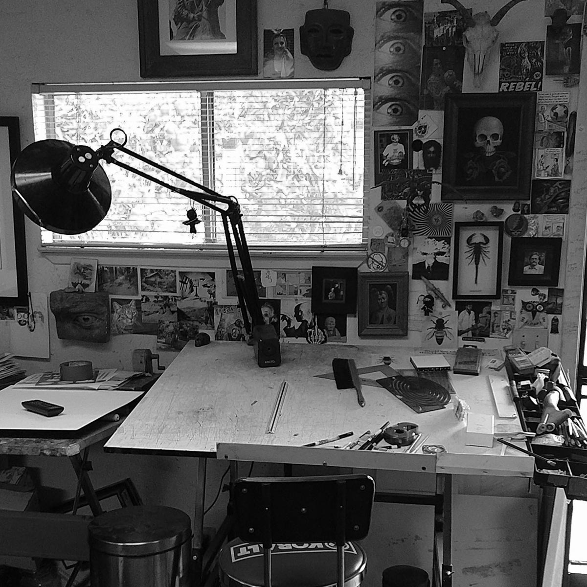 Inside the studio of Ron Norman