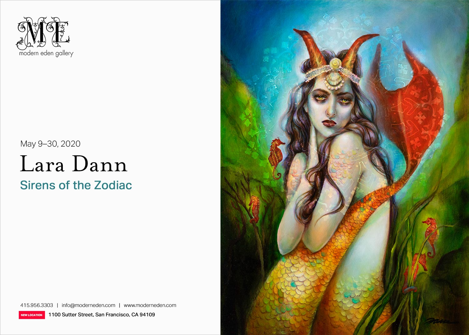Sirens of the Zodiac Lara Dann solo exhibition
