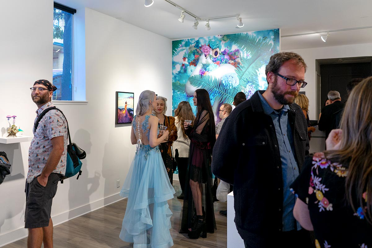Artists and fans at Modern Eden Gallery