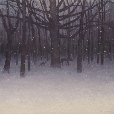 Fawn in an Evening Snowfall (Bambi)