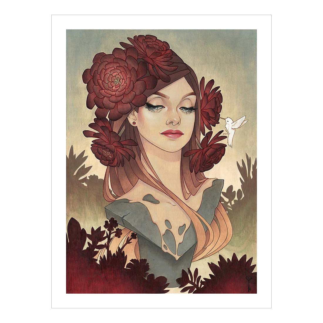 Black Rosed Beauty Fine Art Print