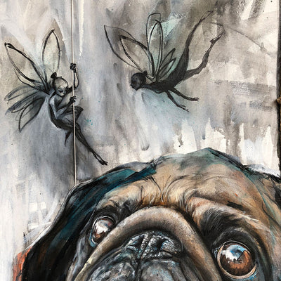 Mr. Pugs knew he wasn't crazy even if he was the only one who could see these bizarre little creatures.