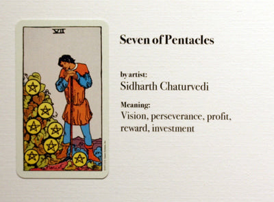 "Seven of Pentacles: ""Fire Mage Apprentice"""