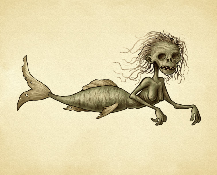 Fiji Mermaid Fine Art Print