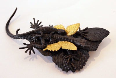 Gold Lizard Brooch (II)