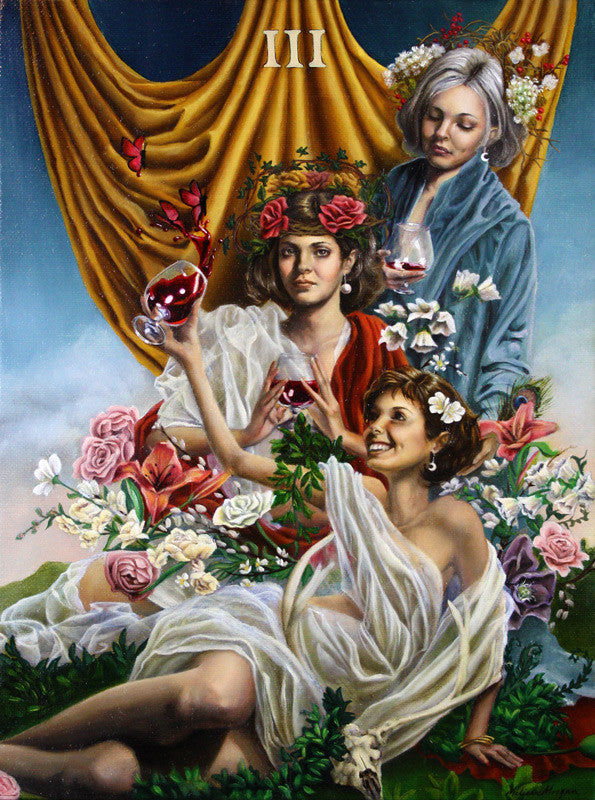 "Three of Cups: ""Garden of Plenty"""