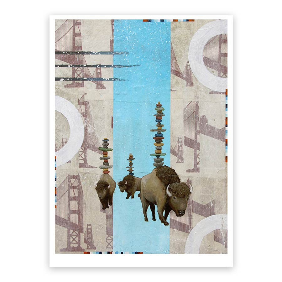 Young Family Walking Through it All Print