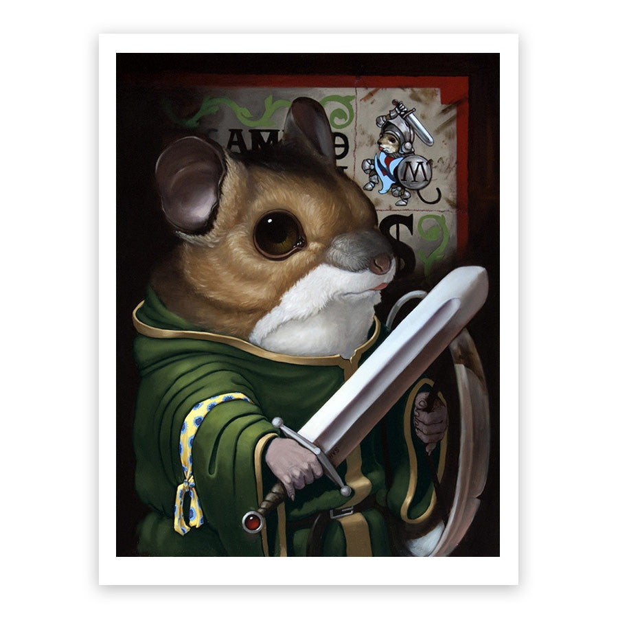 The Warrior of Redwall Print