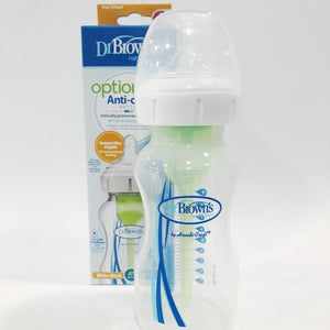 Dr Brown's Options + Wide-Neck Bottle -White/Green
