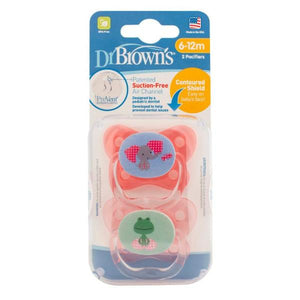 Dr Browns PreVent® Contoured Pacifier 6-12m - Pink