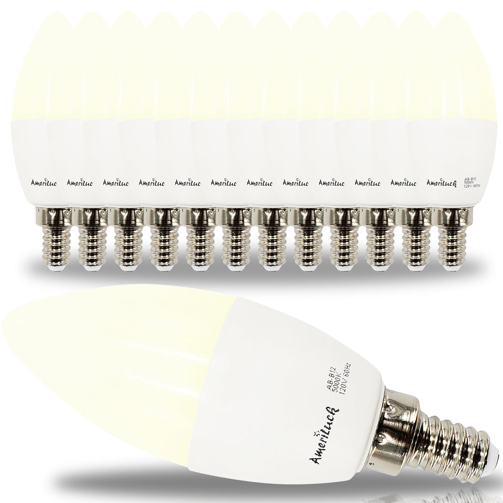 E12 Candelabra Light Bulbs (12 Pack)