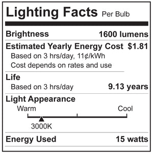 100W Equivalent Super Bright A19 LED Bulbs - 6 Pack