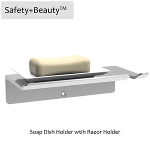 Soap Dish Holder (with Razor Holder)