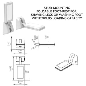 Heavy Duty Foldable Shower Wall Foot Rest