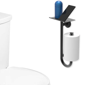 3-in-1 Toilet Paper Holder with Safety Grab Bar and Phone Shelf