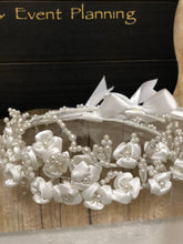 Load image into Gallery viewer, Stefana- Wedding Crowns white flowers and pearls
