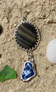 Lake Erie Wishing Beach Glass Pendant