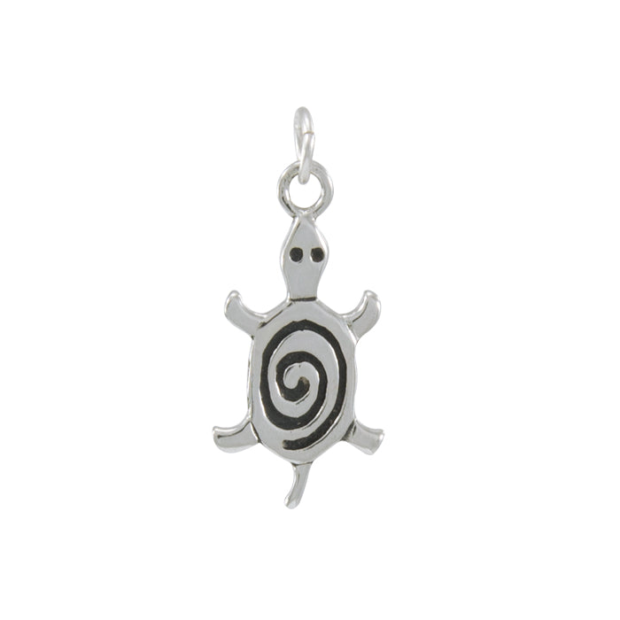 Charm: Turtle with Spiral