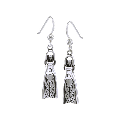 Earrings: Sport Diver Swim Fin