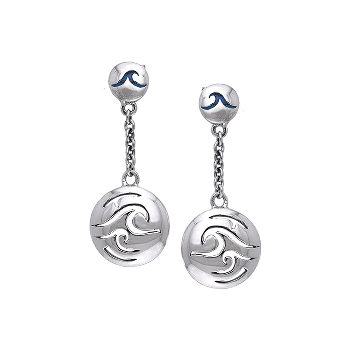 Earrings: Double Wave