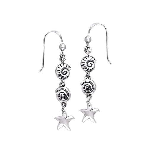 Earrings: Seashell And Starfish