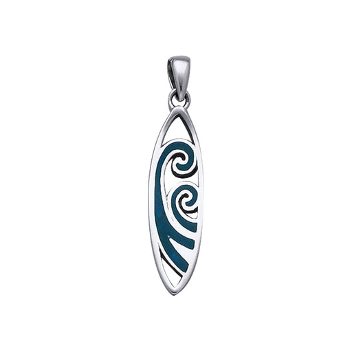 Pendant: Surfboard With Waves