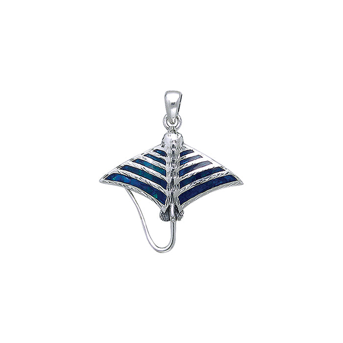 Pendant: Inlaid Eagle Ray