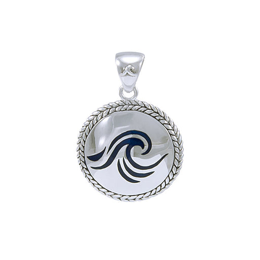Pendant: Wave braided Medallion