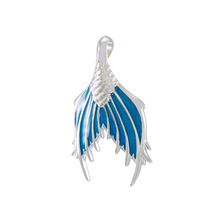 Pendant: Mermaid Tail with Enamel