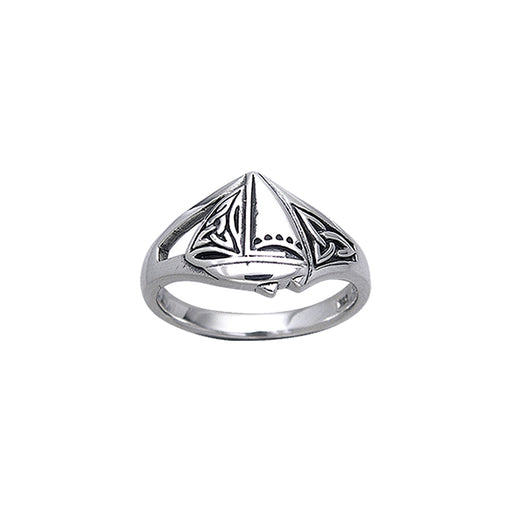 Ring: Celtic Sailboat