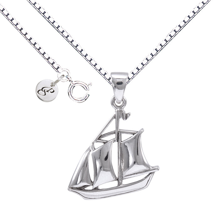 Necklace: Schooner Boat Set