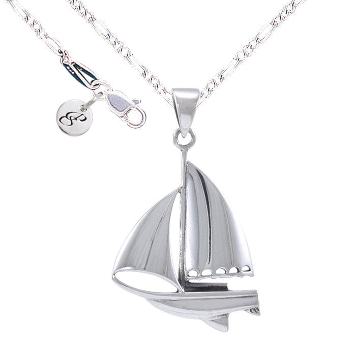 Necklace: Sail Boat Set