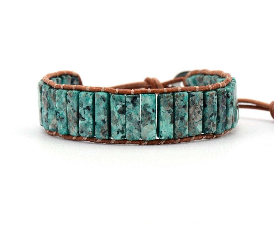 Bracelet: Single Leather Wrap