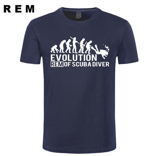 T-Shirt: REM Evolution of Scuba Diver