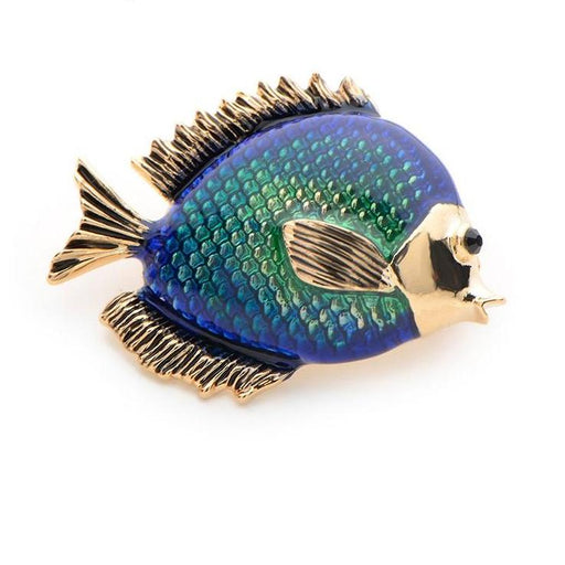 Brooch: Blue Fish