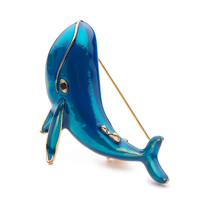Brooch: Blue Whale