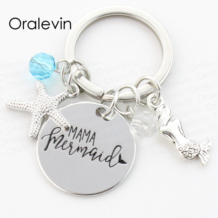 Keychain: Mermaid Starfish
