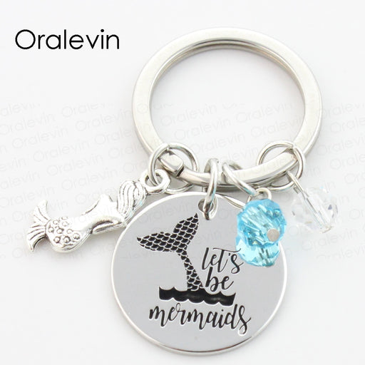 Keychain: Let's Be Mermaids