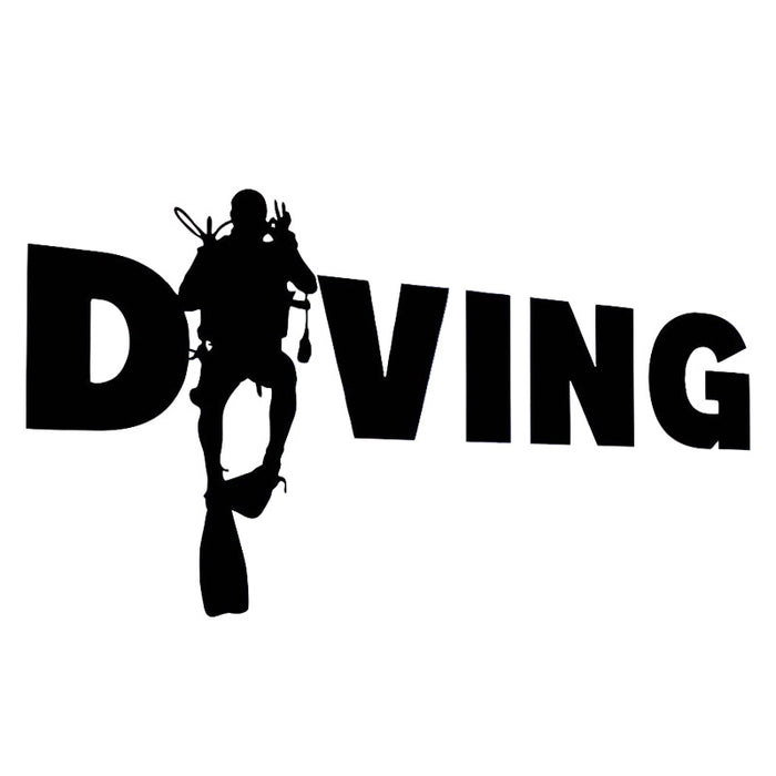 Sticker: DIVING Scuba Diver