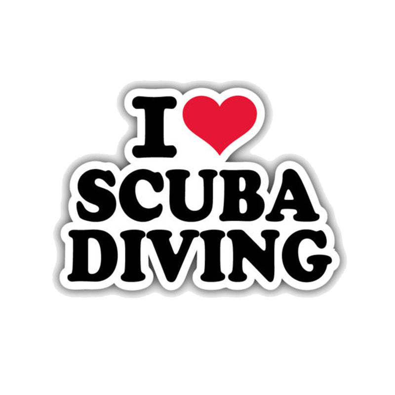 Sticker: I Love Scuba Diving