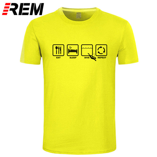 T-Shirt: REM Eat Sleep Diver Repeat