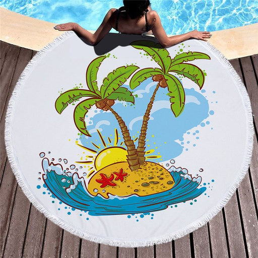 Towel: Palm Tree Island