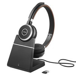 Evolve 65 Stereo MS w/Charging Stand Wireless Headset