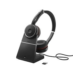 Evolve 75 Stereo MS w/Charging Stand Wireless Headset