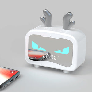 Smart Alarm Clock Ornaments  Figure Model Doll Toys Child Gift Cute Totoro Bluetooth Speaker