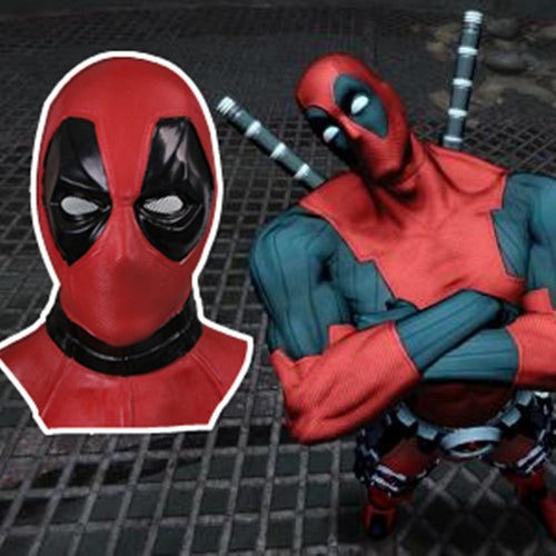 Marvel Superhero Deadpool Mask Breathable Latex Full Face Halloween Cosplay Prop - bfjcosplayer