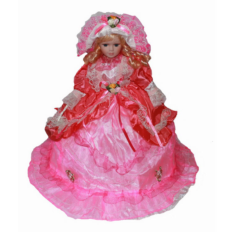 Pink Big skirt doll Europe Ornaments  Figure Model Doll Toys Child Gift Cute Princess Lace Victoria